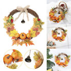 Ornament Halloween Pendant Artificial Leaves Wreat Pumpkin Wreath Door Hanging