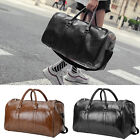 'Mens Pu Leather Duffle Weekend Bag Gym Sports Travel Luggage Handbag Holdall