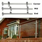 304 Stainless Steel Balustrade Posts Mid/Corner/ End Grade Glass Clamp Base Down