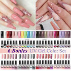 6Pcs LILYCUTE Gel Nail Polish Lot Glitter Gel Colors UV LED Varnish Set Kit 7ml