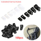 Metal Pipe Mounting Fix R-Type Clip Wiring Hose Fasteners Nylon Cable Clamp