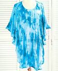 """Embellished Tie-Dye Poncho Cover-Ups NEW SIZE """"ONE SIZE PLUS"""""""