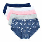 New Rene Rofe Girl's Solid and Star Print Hipster Underwear Pack of 5