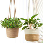 Hanging Plant Pot Cotton Rope Woven Basket Indoor Flower Pot Home Decor Storage