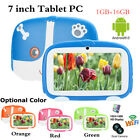 "Kids 7"" Tablet PC Android 9.0 1GB 16GB WIFI Dual Cam Orange Blue Red Green Gift"