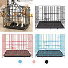 Animals Dog Crate Kennel Folding Pet Cage Metal Playpen with Tray and Handle