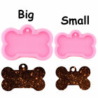 Silicone Bone Shape Pendant Resin Mold DIY Dog Tag Keychain Casting Mould Craft
