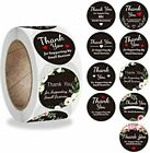 30 THANK YOU FOR SUPPORTING MY SMALL BUSINESS ENVELOPE SEALS LABELS STICKERS 1'