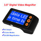 """3.5"""" Digital 2-25X Magnifier Foldable Portable Reading Aid AV Output Low Vision"""