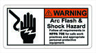 Warning Arc Flash Shock Sticker Decal Label Electrical Safety Free Shipping