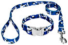 Country Brook Petz® Premium Royal Blue and White Camo Dog Collar and Leash
