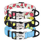 Personalized Dog Collar Adjustable Cute Fruit Pattern Free Engraving with D ring