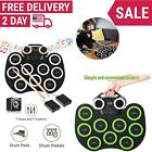 Electronic Roll-Up 9Key Drum Pad Portable USB Stick Drum Kit Silicone Drum Set