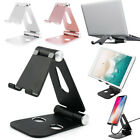 """Foldable Aluminum Desk Stand 4-13.3"""" Cell Phone Tablet Holder For iPhone 12 Pro"""