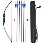 40lbs Archery Recurve Bow Set Arrrows Quiver Takedown Straight Bow Adult Hunt