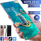 """6.9"""" Quad Core 2 Sim Android Note Smartphone Face Unlocked Mobile Cell Phone New"""