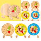 Wooden Teaching Clock Learning Shape Sorting Toys Educational Playset