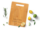 Personalized Engraved Bamboo Cutting Board 3 Sizes Wooden Chopping Serving Board