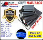 ♛ High Quality Grey Plastic Mailing Postal Bags Poly Postage - Fast UK Postage ♛