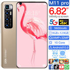 6.82'' Screen M11pro Android 10.1 8g+128g Dual Sim Card Power Smart Mobile Phone