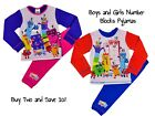 Boys and Girls Number Blocks Pyjamas PJs 18-24 Months to 4-5 Christmas Gift