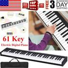 Digital Piano Keyboard 61 Key -Portable Electronic Instrument with Suitcase US