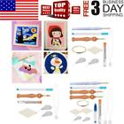 DIY Magic Embroidery Pen Set Punch Needle Stitching Knitting Sewing Tools US