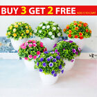 Artificial Flowers In Pot With Vase Fake Plants Lotus Home Garden Outdoor Decor