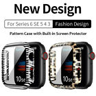 Pattern Case Cover Screen Protector For Apple Watch Series 6 5 4 SE 44/42/40/38