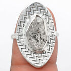 Natural Herkimer Diamond - USA 925 Sterling Silver Ring s.8 Jewelry 3441