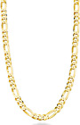 Miabella Solid 18K Gold Over Sterling Silver Italian 5Mm Diamond-Cut Figaro Link