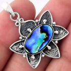 Natural Abalone Shell 925 Sterling Silver Pendant Jewelry 1908