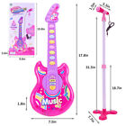 Acoustic Guitar Toy Child Fun Kids Music Learning Educational Instrument W/ Mic