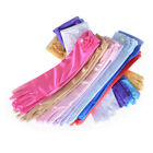 Satin Bow Pearl Long Gloves Elbow Length Princess Costume Dress Baby Girls KY ss