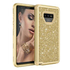 Lady Glitter For Samsung Galaxy Note 9 / 8 Cover Shockproof Silicone Hybrid Case