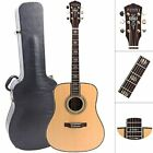 ZUWEI 41in Handmade Electric Acoustic Guitar Solid Spruce Top Rosewood Back&side