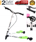 Aodi Kids Foldable Swing Scooter Adjustable Height Kick Speeder Wiggle Scooters
