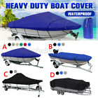 210D Heavy Duty Pontoon Boat Cover Trailerable Waterproof UV Resistant Runabouts