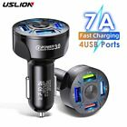 USLION 4USB Quick Car Charger For Mobile Phone Universal Dual Usb  Adapter For i