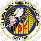 Sticker Usn Mcb 62 Seabee Can Do