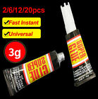 2/6/12/20pcs Super Glue Surface Insensitive Extra Strong Adhesive Instant Fast
