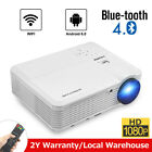 CAIWEI Smart Android HD Projector Wireless WIFI BT Proyector 1080P Movie USB LED