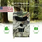 Hunting Game Trail Video Outdoor Camera 12MP 1080P Waterproof Camcorder Cam D7N8