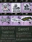 Twisted Princesses Wrights Iron On Embroidered or Glass Rhinestone Appliques