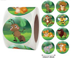 30 ANIMAL KIDS CRAFT ENVELOPE SEALS LABELS STICKERS 1.5' ROUND FAST SHIPPING