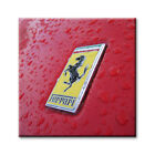 "cc art -CANVAS PRINT - FERRARI BADGE STUDY - 24""x24"""