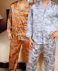 Men's 21M/M Heavy weight 100% Silk Pajamas Set Sleepwea size S  M  L AS925