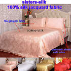 4 pcs 19MM Seamless Jacquard Silk Duvet Cover Fitted Sheet Pillow shams Set