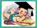 Vintage Baby Graduate Fabric Quilt Block Multi Sizes FrEE ShiPPinG WoRld WiDE