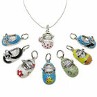 "Darling Enamel Baby Shoe Charm Pendant 16-18"" Necklace"